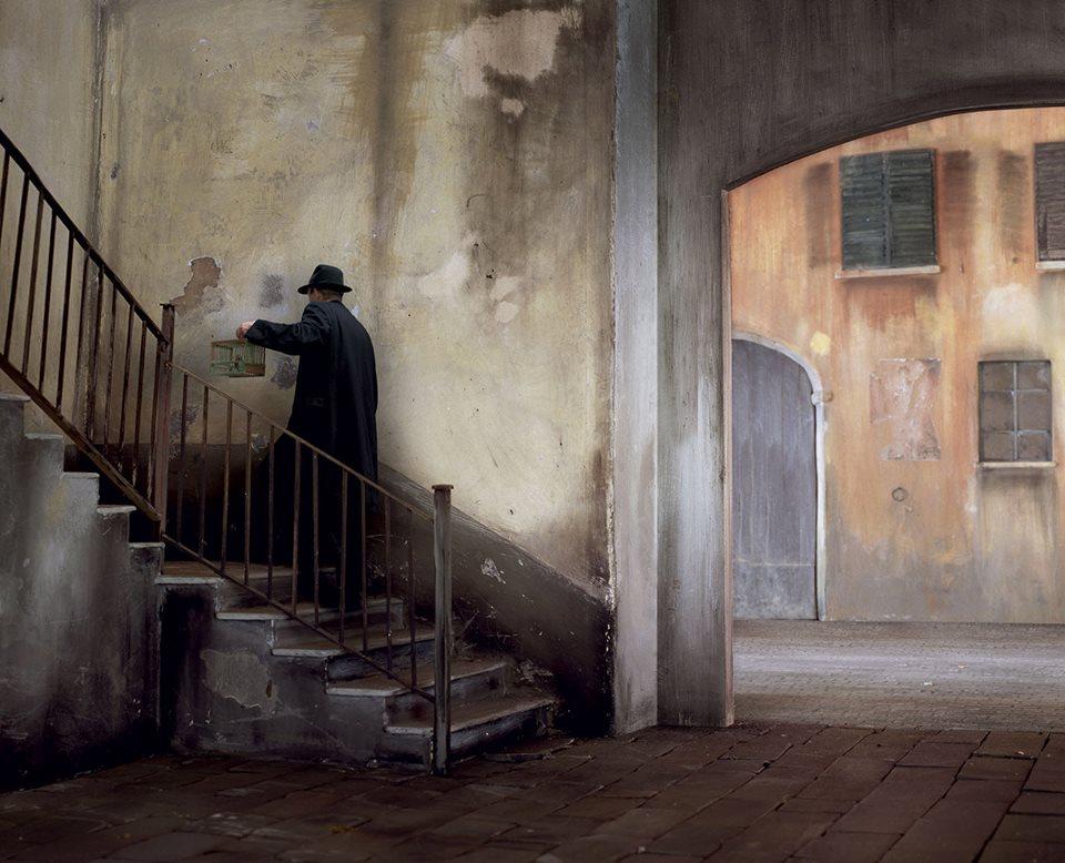 man staircase